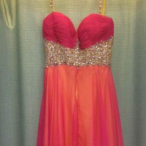 Vibrant prom dress